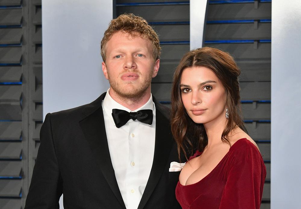 Emily Ratajkowski og Sebastian Bear-McClard på Vanity Fairs Oscar-fest i Los Angeles i 2019 (Dia Dipasupil/Getty)