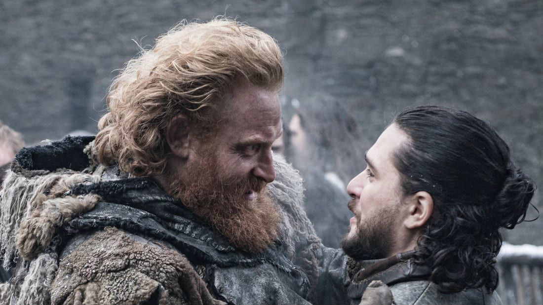 Tormund Giantsbane og Jon Snow