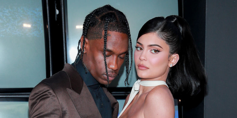 Travis Scott og Kylie Jenner på premieren til Netflix-filmen Look Mom I Can Fly i Santa Monica, California 27. august 2019 (Rich Fury/Getty Images)