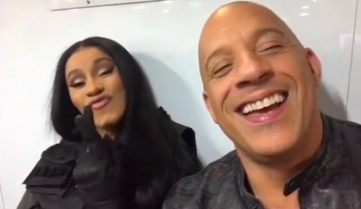 Cardi B og Vin Diesel gjør Fast 9 (Instagram/vindiesel)
