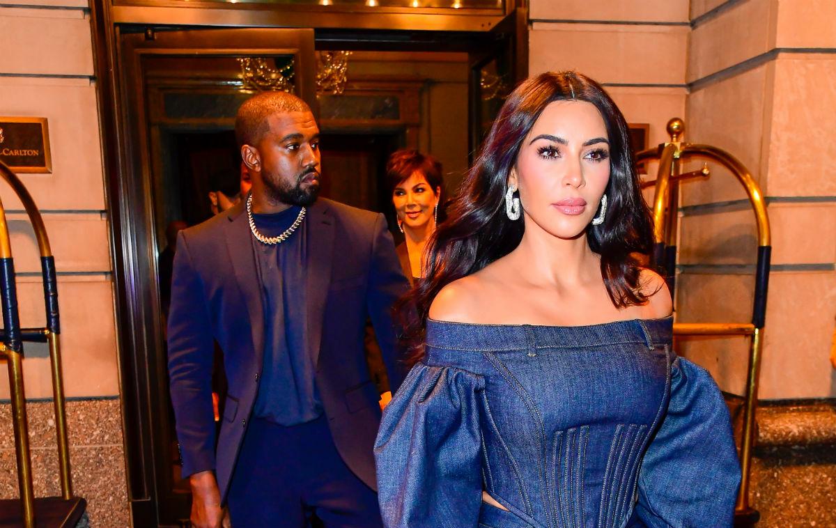 Kanye og Kim i New York i november 2019 (Raymond Hall/Getty)