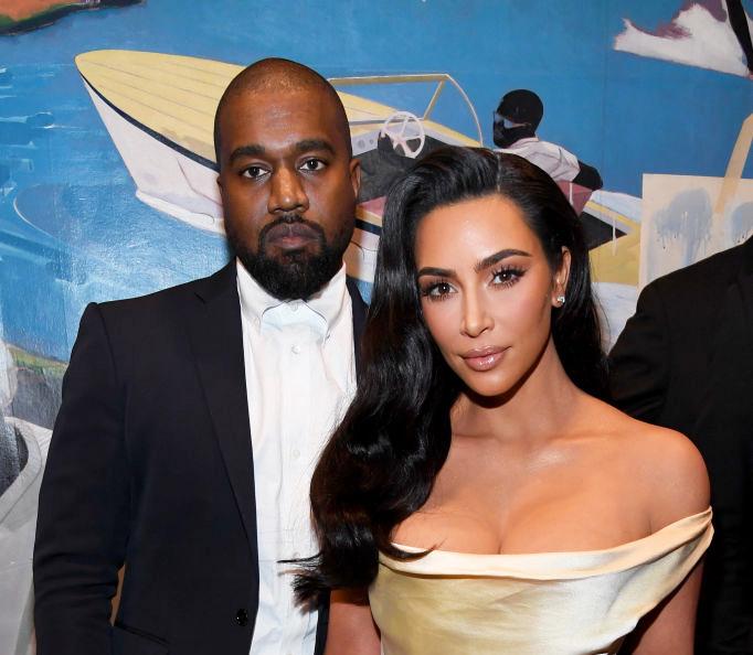Kanye West og Kim Kardashian på Diddys 50-årsdag i Los Angeles i desember 2019 (Kevin Mazur/Getty)