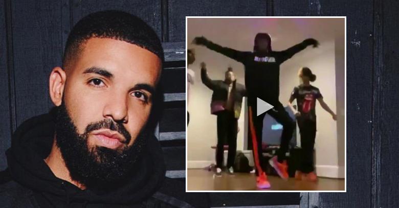 Drake lager karantenefest med kommende Tootsie Slide alias Toosie Slide Challenge (Instagram/champagnepapi, Twitter/TheRealYvngQuan)