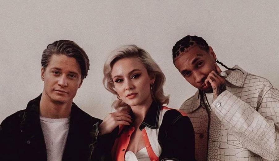 Kygo, Zara og Tyga står her kanskje ikke sammen irl, men teamer opp på nordmannens nye singel (Kygo AS/Sony Music)