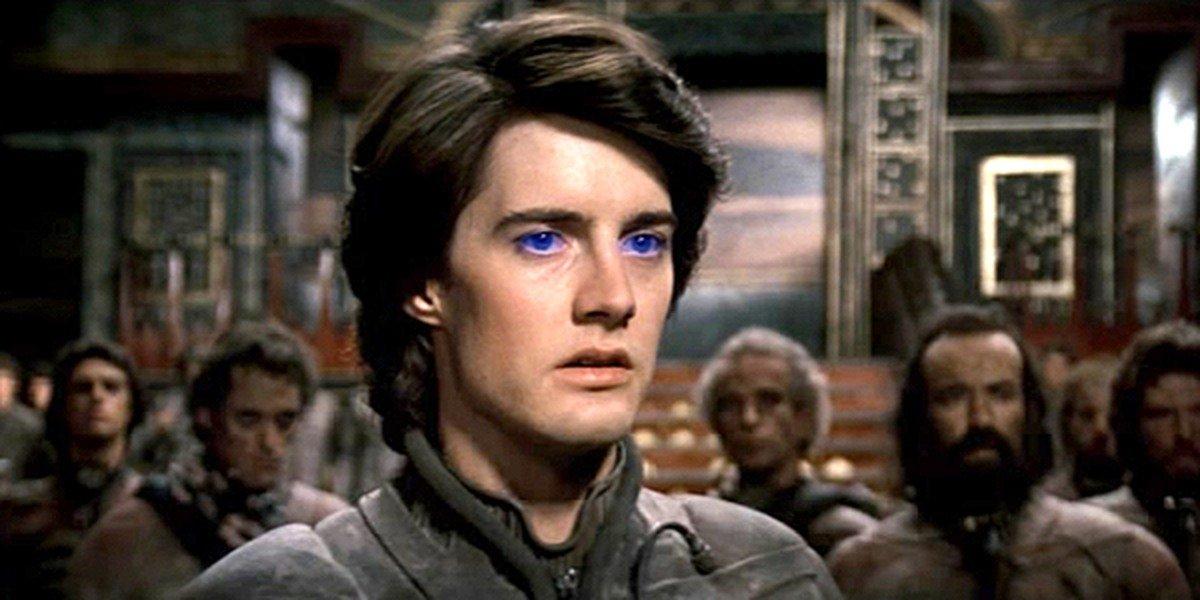 Kyle Maclachlan som ekstra blåøyde Paul Atreides i David Lynch-versjonen av Dune (Dino De Laurentiis/Universal