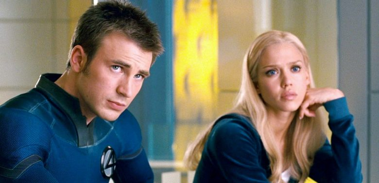 Chris Evans og Jessica Alba som halvparten av ikke så Fantastic Four (Marvel/Fox)
