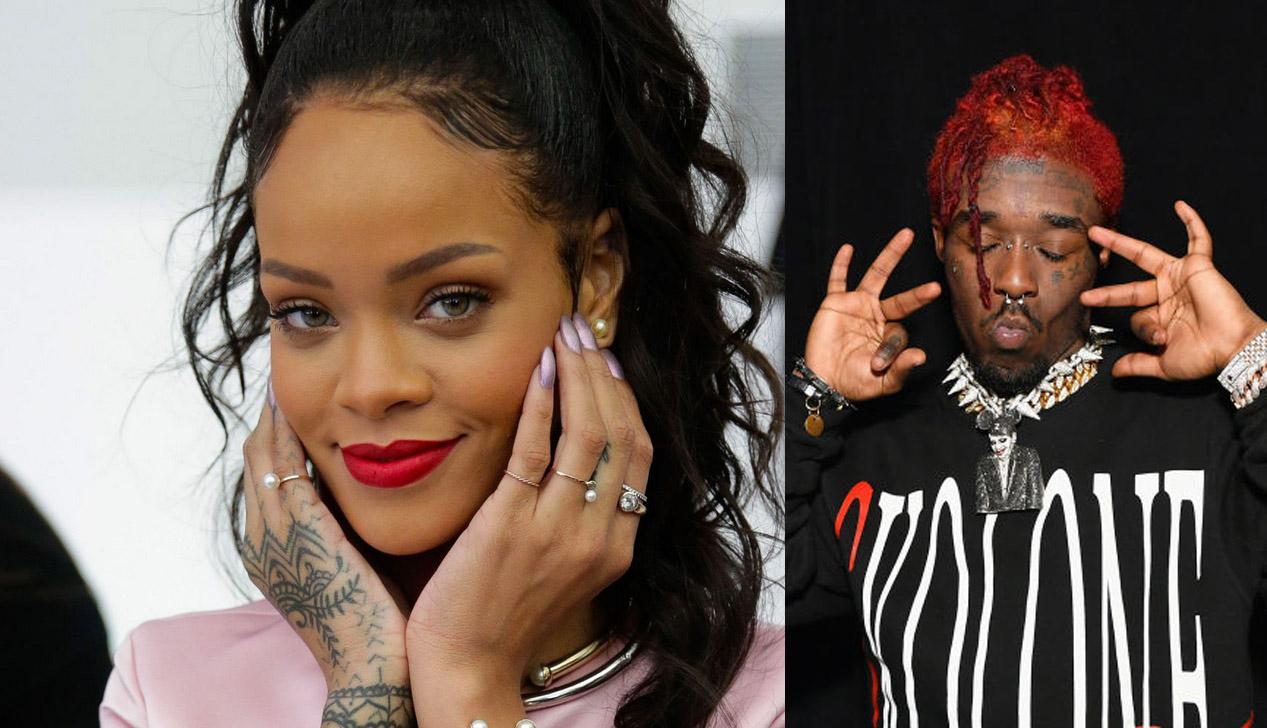 Futsal Shuffle: Rihanna og Lil Uzi Vert festet på Instagram Live i natt (JP Yim/Getty), Slaven Vlasic/Getty)