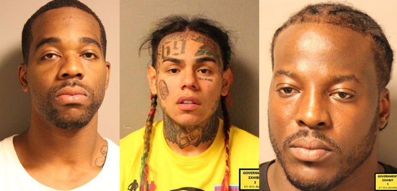 Nine Trey Gangster Bloods: Anthony «Harv» Ellison, Daniel «Tekashi69» Hernandez og Aljermiah «Nuke» Mack (United States District Court for the Southern District of New York)