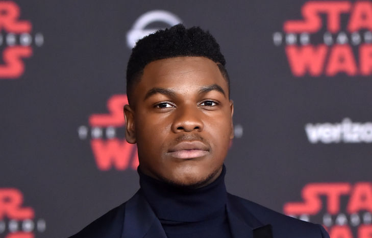 John Boyega på premieren til Star Wars: The Last Jedi i Los Angeles (Jeff Kravitz/FilmMagic)