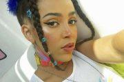 Doja Cat alias Amalaratna Zandile Dlamini med 6ix9ine-kjede neida (Instagram/dojacat)