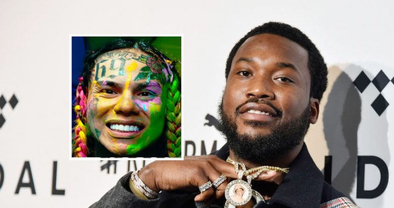 Meek Mill er ikke fan av 6ix9ine #foråsidetsånn (Mike Coppola/Getty)