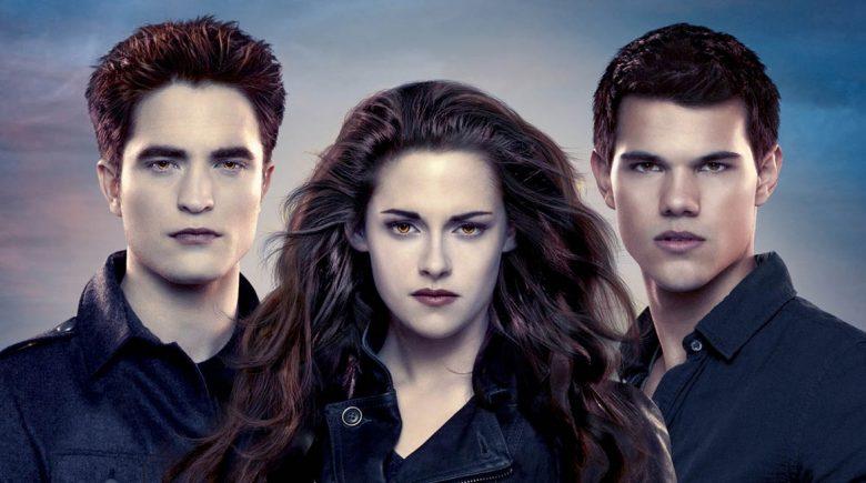 Blir Midnight Sun til ny Twilight-film? Robert Pattinson som Edward Cullen, Kristen Stewart som Bella Swan, Taylor Lautner som varulven Jacob Black (Summit)