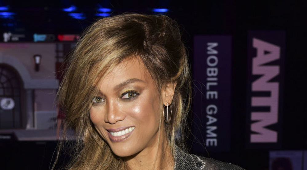 Tyra Banks på lanseringen av America's Next Top Model-spiller i Los Angeles i mai 2018 (Rodin Eckenroth/Getty)