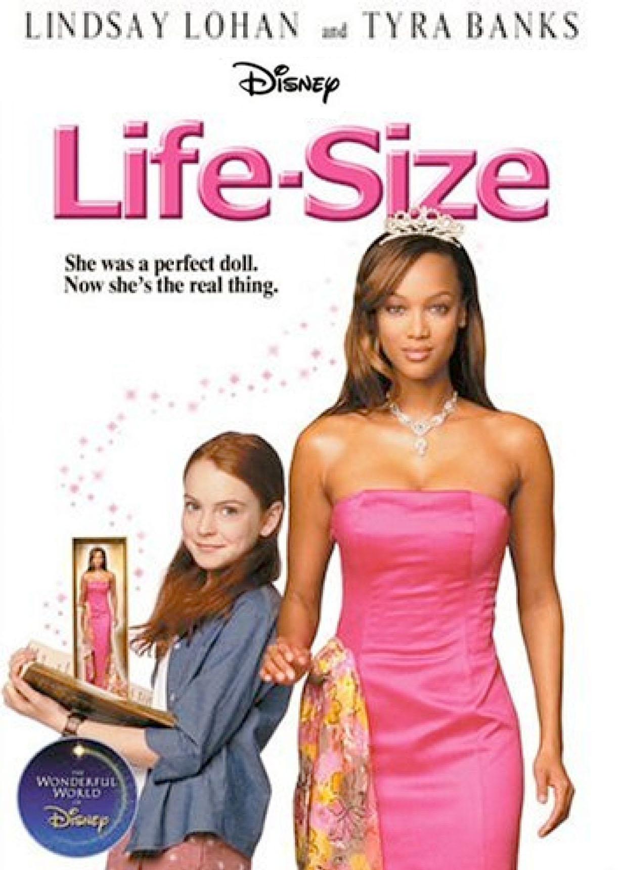 Lindsay Lohan og Tyra Banks som Casey Stuart og Eve i Life-Size fra 2000 (Disney)