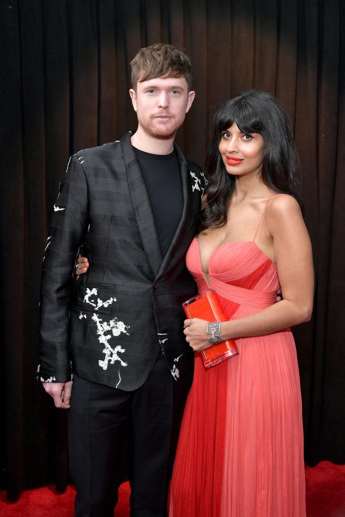 Jameela Jamil med James Blake på Grammy Awards i Staples Center i Los Angeles i 2019 (Neilson Barnard/Getty)