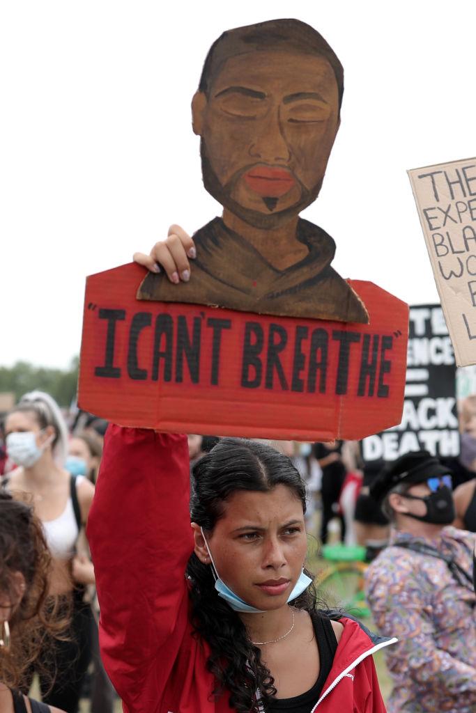 George Floyd minnes via Black Lives Matter-demonstrasjon i London onsdag 3. juni (Dan Kitwood/Getty)