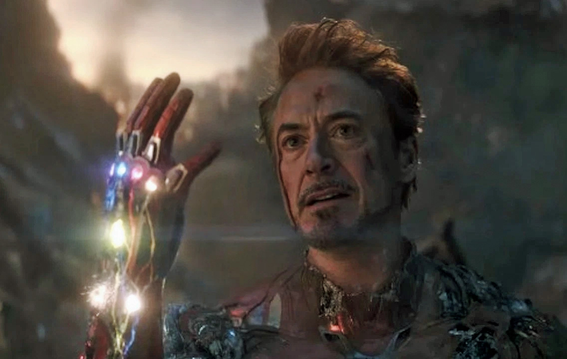 Robert Downey Jr. som Tony Starks alias Iron Man i Avengers: Endgame (Marvel/Disney)