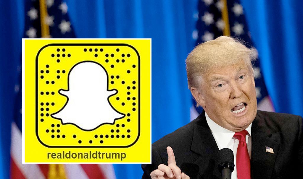 Snapchat vs. Donald Trump (Drew Angerer/Getty)