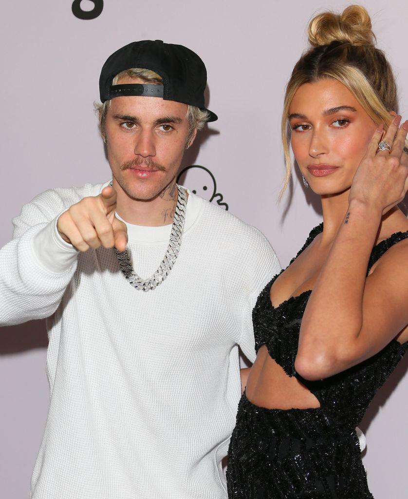 Justin Bieber og Hailey Bieber på premieren til dokumentarserien Justin Bieber: Seasons i Los Angeles januar 2020 (Jean Baptiste Lacroix/FilmMagic)
