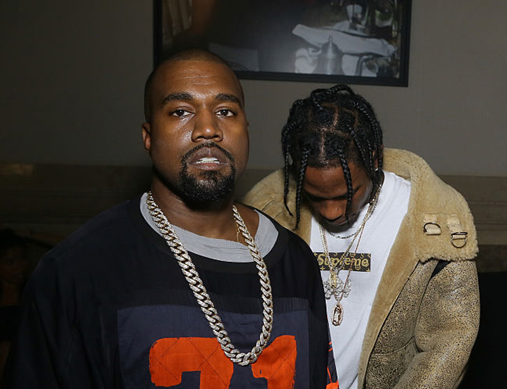 Kanye West og Travis Scott slapp musikkvideo i ettermiddag (Victor Boyko/Getty)