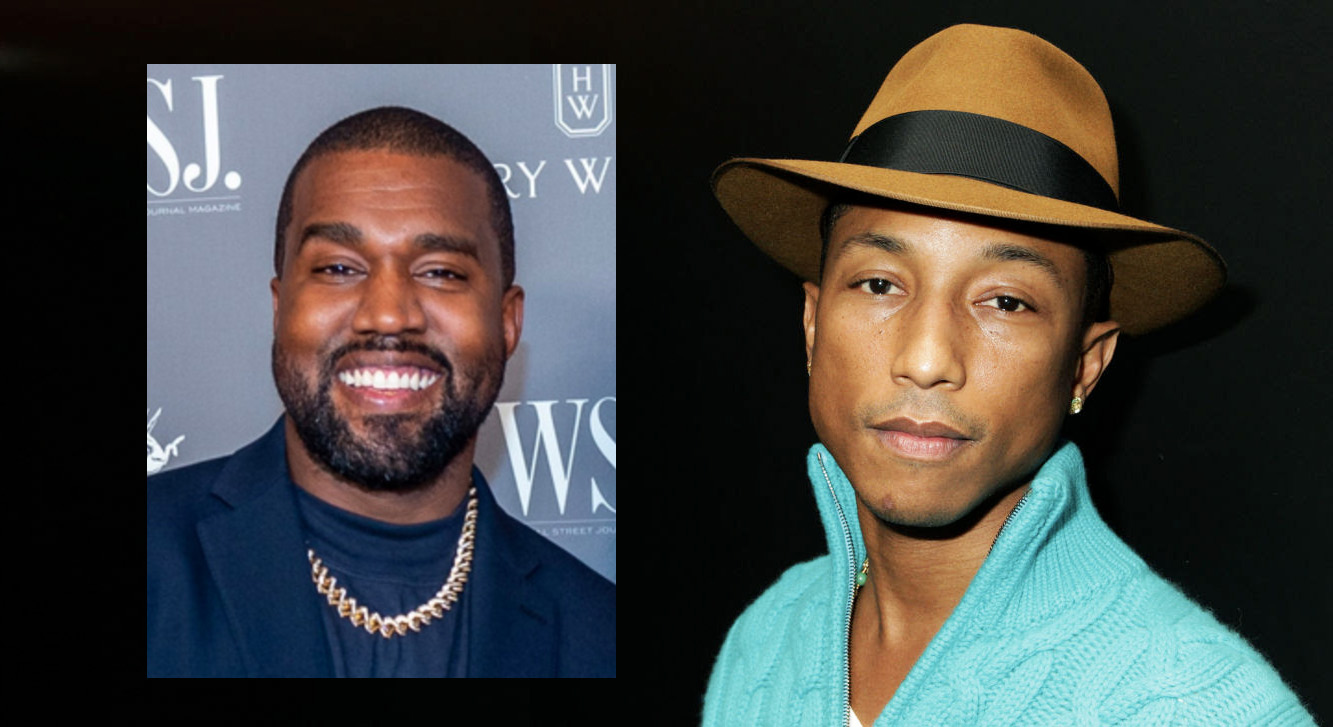 Kanye West kaller Pharrell Williams en av de beste (Mark Sagliocco/WireImage, David Buchan/Getty)
