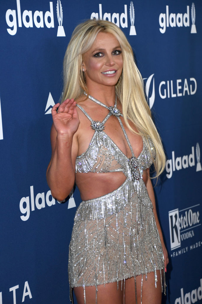 Britney Spears på GLAAD Media Awards i Beverly Hills i april 2018 (Jon Kopaloff/FilmMagic)