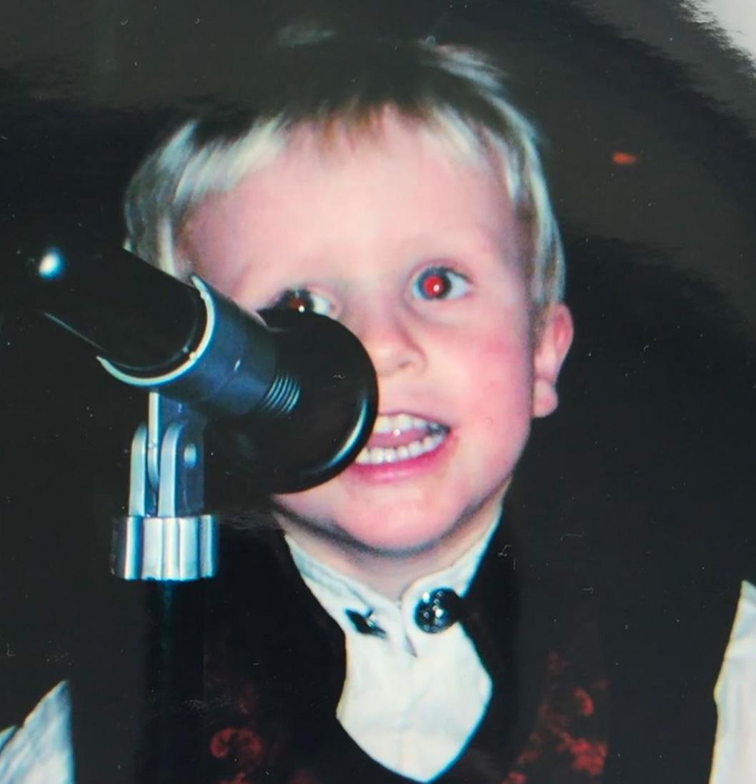 Bølgen alias Niklas Paulsen som purungt stjerneskudd (privat)