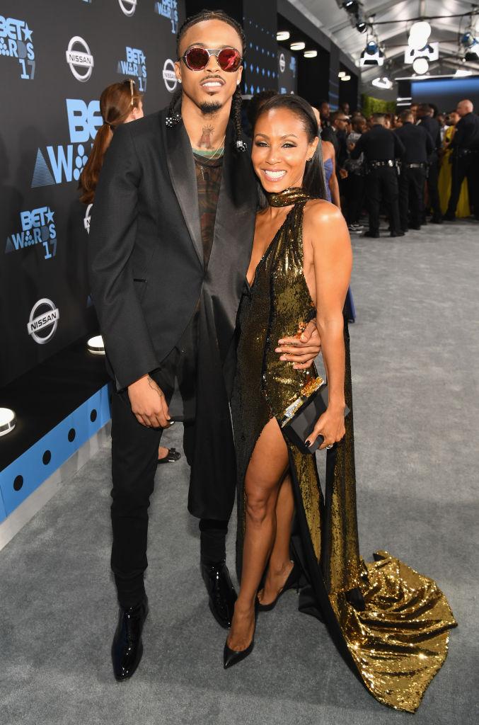August Alsina og Jada Pinkett Smith på BET Awards i Downtown Los Angeles i 2017 (Paras Griffin/Getty)