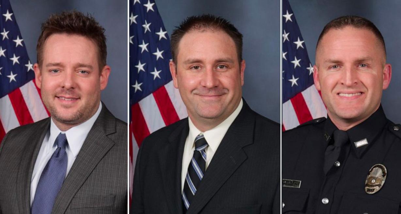 Jonathan Mattingly, Myles Cosgrove og Brett Hankison drepte Breonna Taylor (Louisville Metro Police Department)
