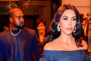 Kanye West, Kris Jenner og Kim Kardashian i New York i november 2019 (Raymond Hall/Getty)