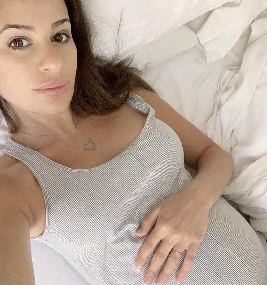 Lea Michele er gravid med sitt første barn (Instagram/leamichele)