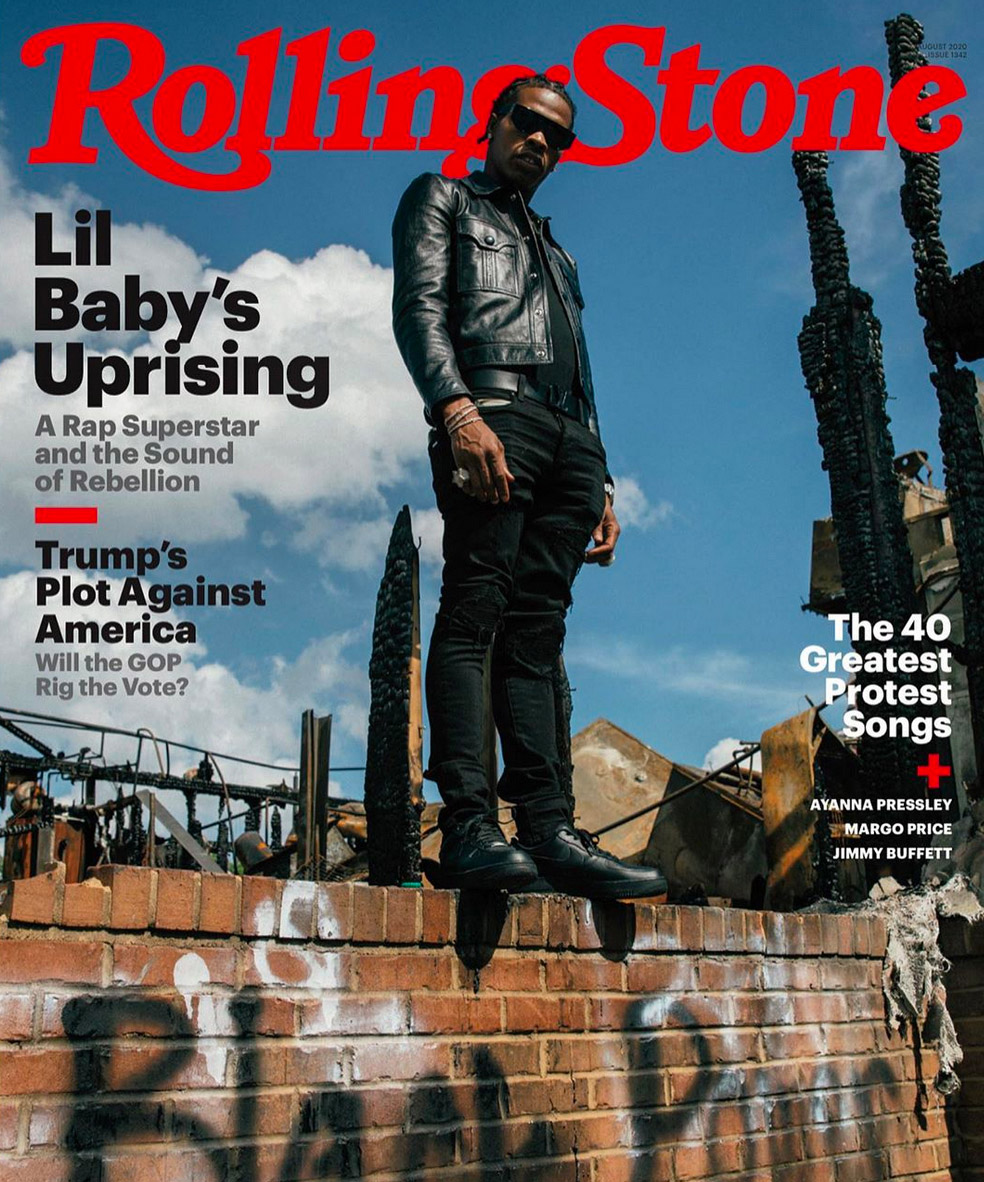 Lil Baby pryder coveret til neste nummer av Rolling Stone