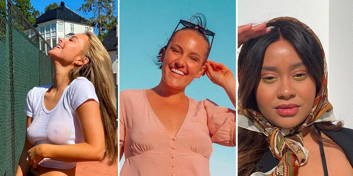 Influencer-Norge med travel sommermåned (Instagram/sophieelise/camillalor//fetishamlynn)