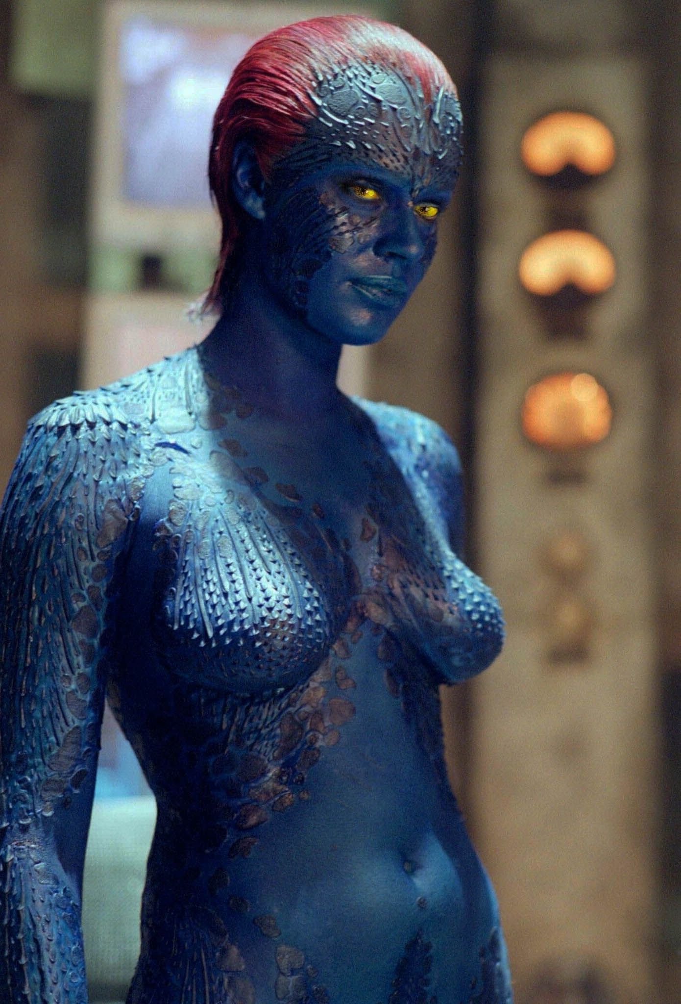 Rebecca Romijn-Stamos som Mystique (Marvel/Fox)