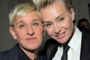 Ellen DeGeneres og Portia de Rossi på Netflix' Golden Globes-fest i januar 2020 i Los Angeles (Charley Gallay/Getty)