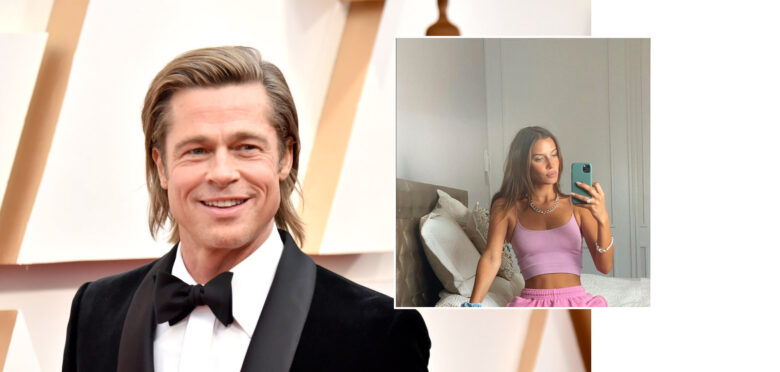 Brad Pitt og Nicole Poturalski (Jeff Kravitz/FilmMagic, Frazer Harrison/Getty, Instagram/nico.potur)