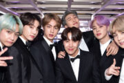 BTS på Grammy-utdelingen i Los Angeles i 2019 (John Shearer/Getty)