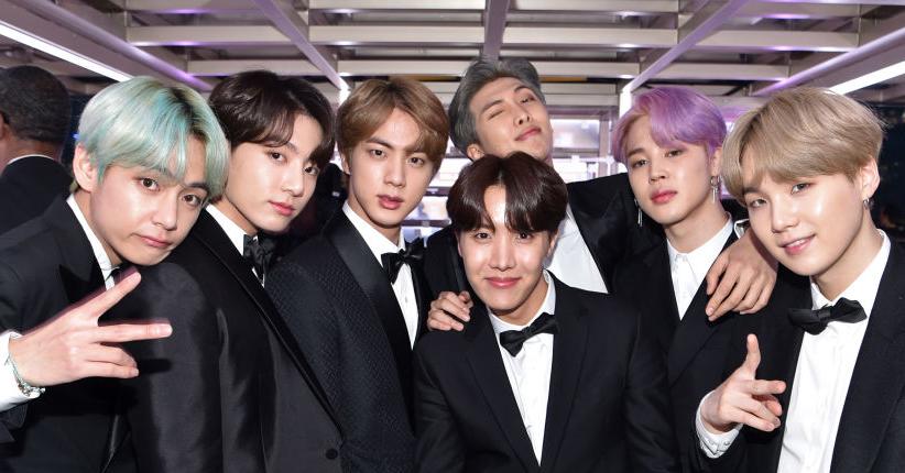BTS på Grammy-utdelingen i Los Angeles i 2019 (John Shearer/Getty)