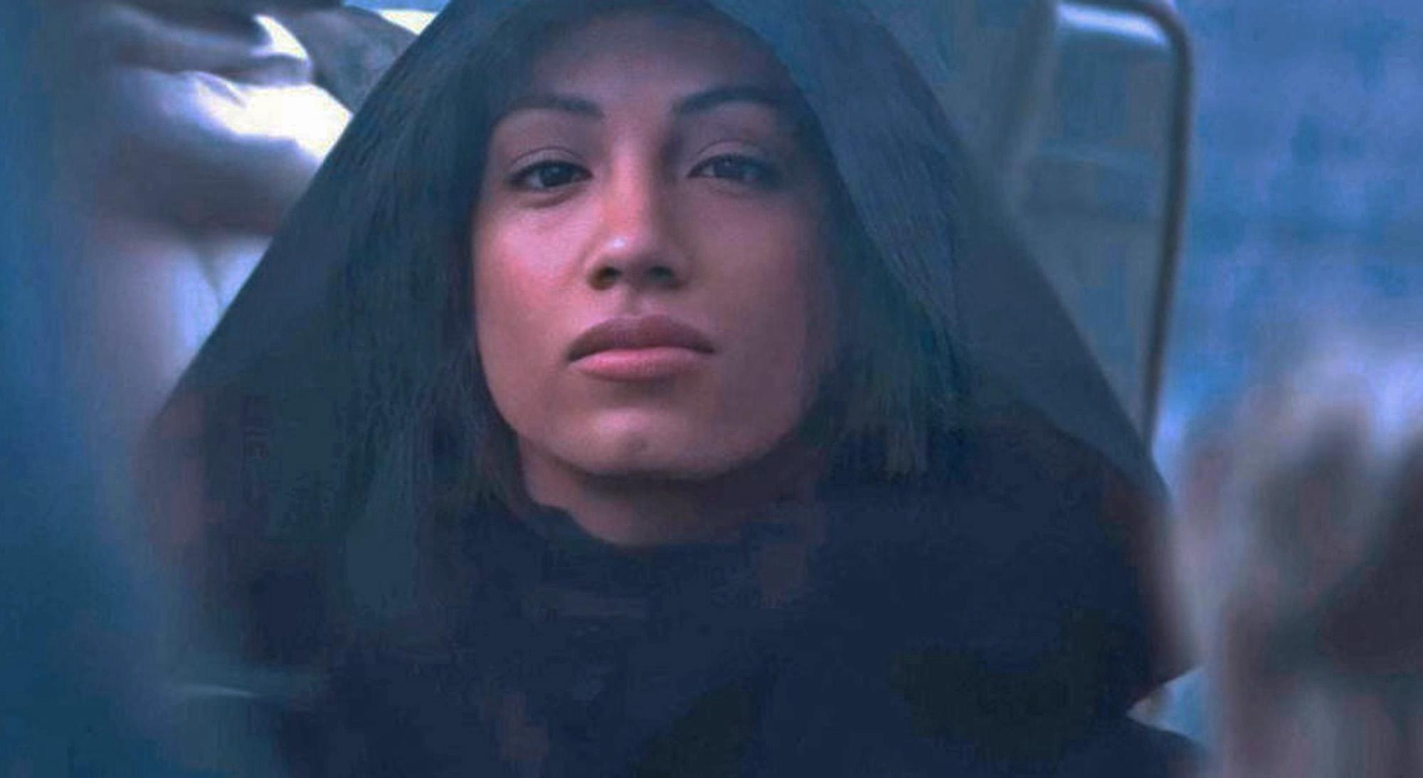 Sasha Banks alias Mercedes Justine Kaestner-Varnado som mystisk karakter i traileren til The Mandalorian sesong 2 (Disney Plus)