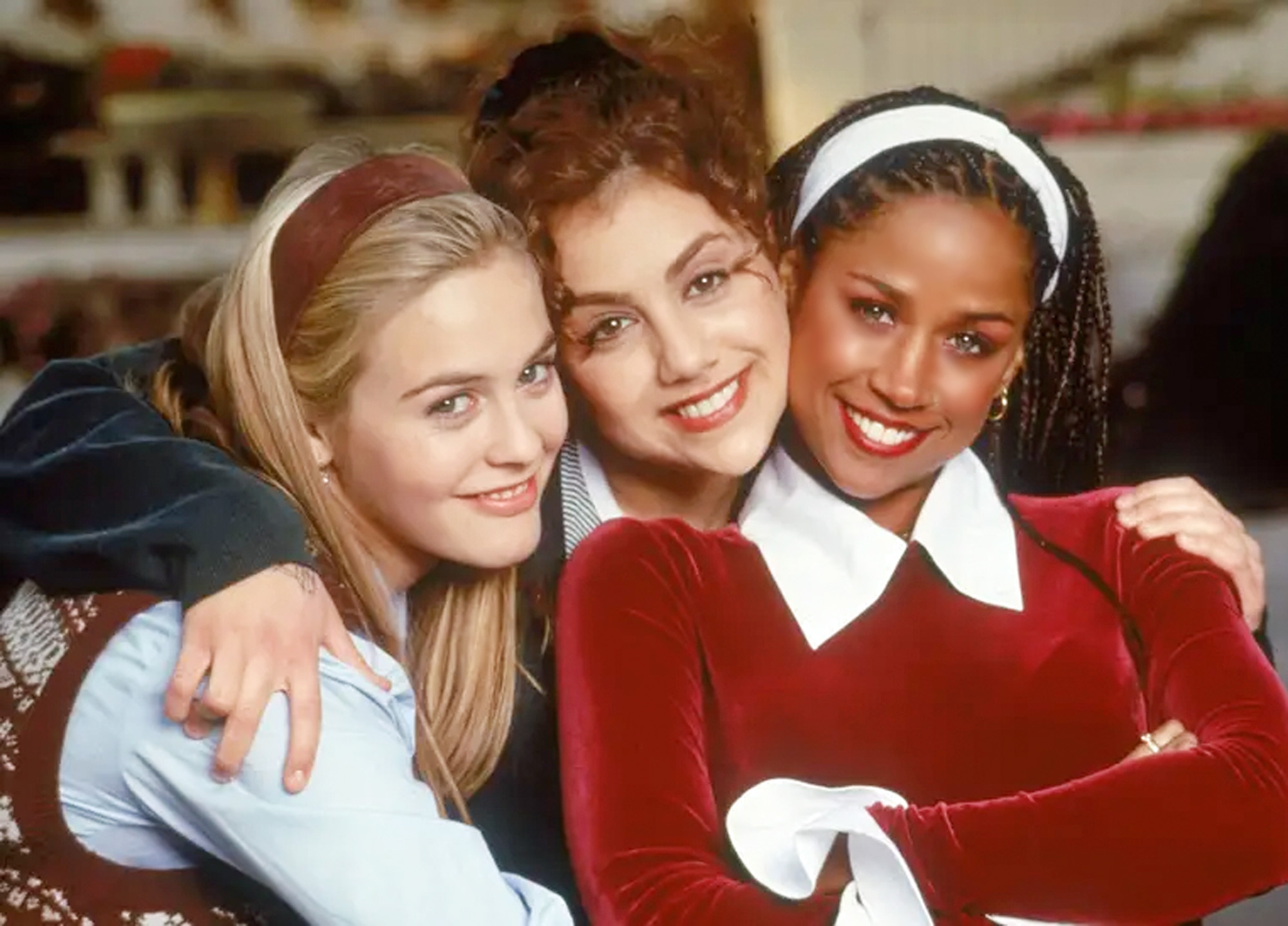 Alicia Silverstone, Brittany Murphy og Stacey Dash i Clueless (Paramount)