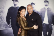 Dr. Dre og Nicole Young på premieren til Straight Outta Compton i Los Angeles i 2015 in Los Angeles (Jason Kempin/Getty)