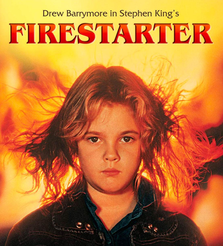 8 år gamle Drew Barrymore i originale Firestarter (Dino de Laurentiis/Metro-Goldwyn-Mayer/Universal)