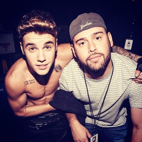 Justin Bieber og Scooter Braun (Instagram/justinbieber)