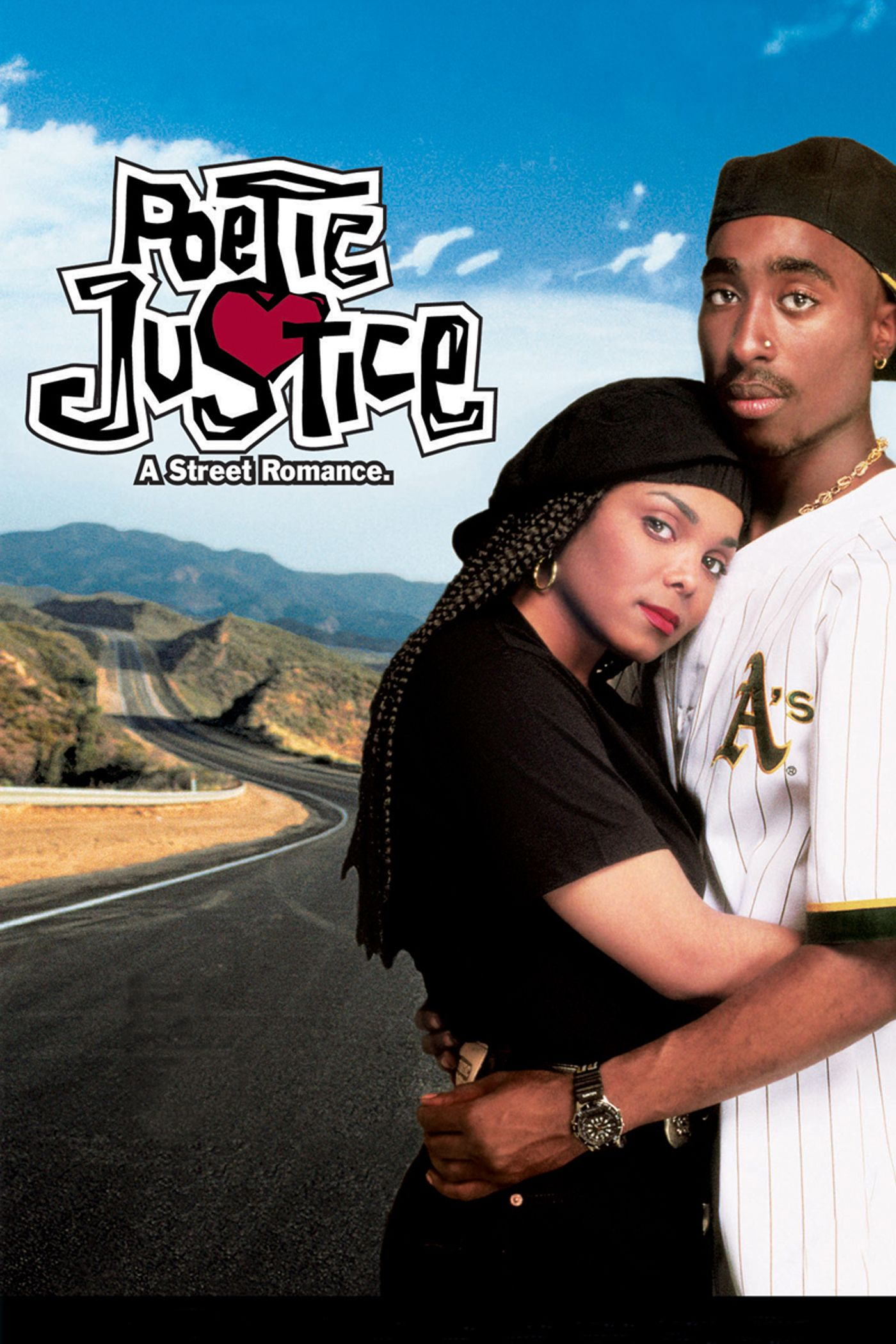 Janet Jackson som Justice LaRue, Tupac Shakur som Lucky Knight (Columbia Pictures)