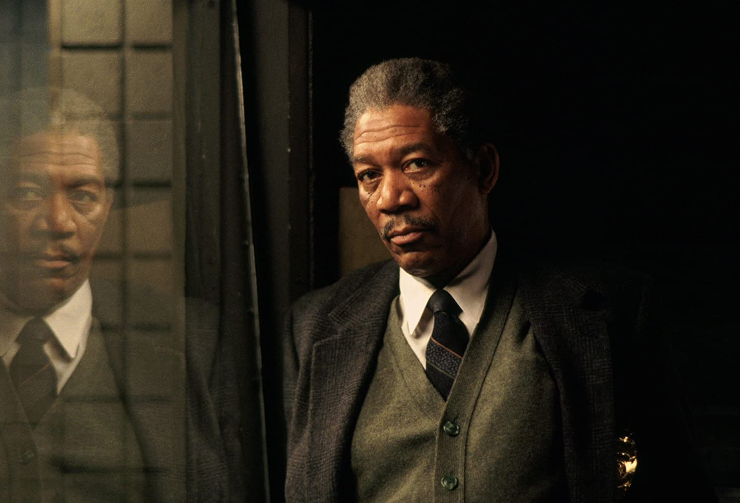 Morgan Freeman som detektiv Somerset (New Line Cinema/Warner Bros.)