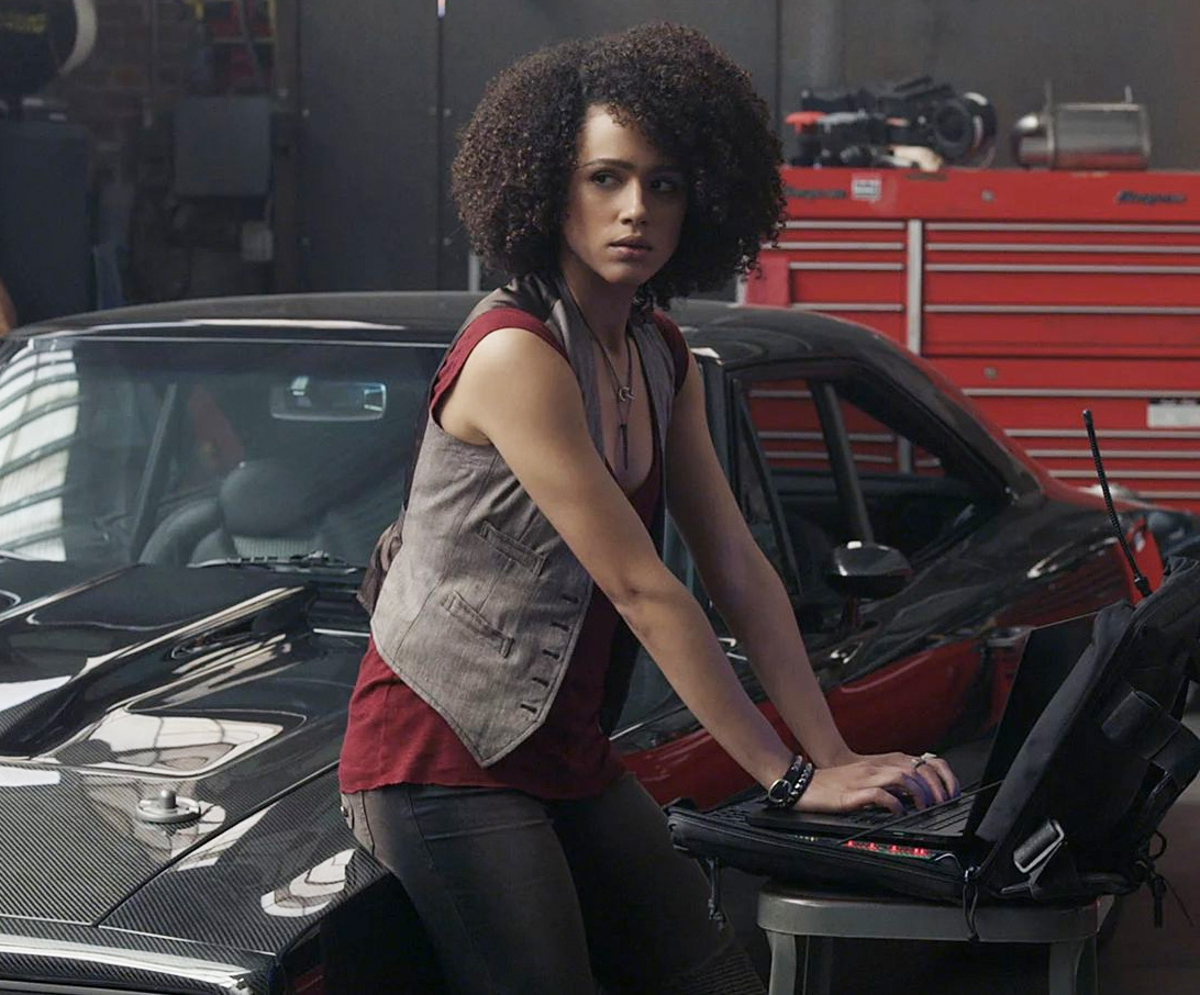 Nathalie Emmanuel som Ramsey i The Fate of the Furious alias F8 (Universal Pictures)