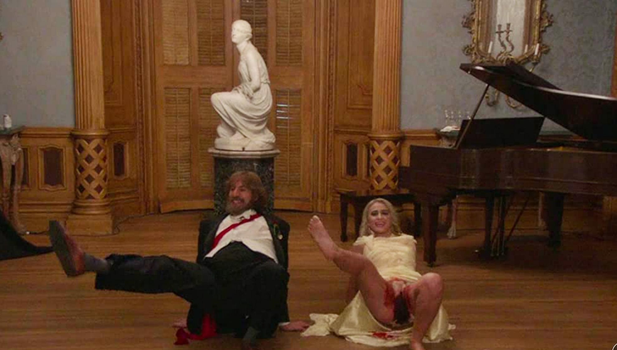 Ikke alles humor: Sacha Baron Cohen og Maria Bakalova i Borat Subsequent Moviefilm (Prime Video)