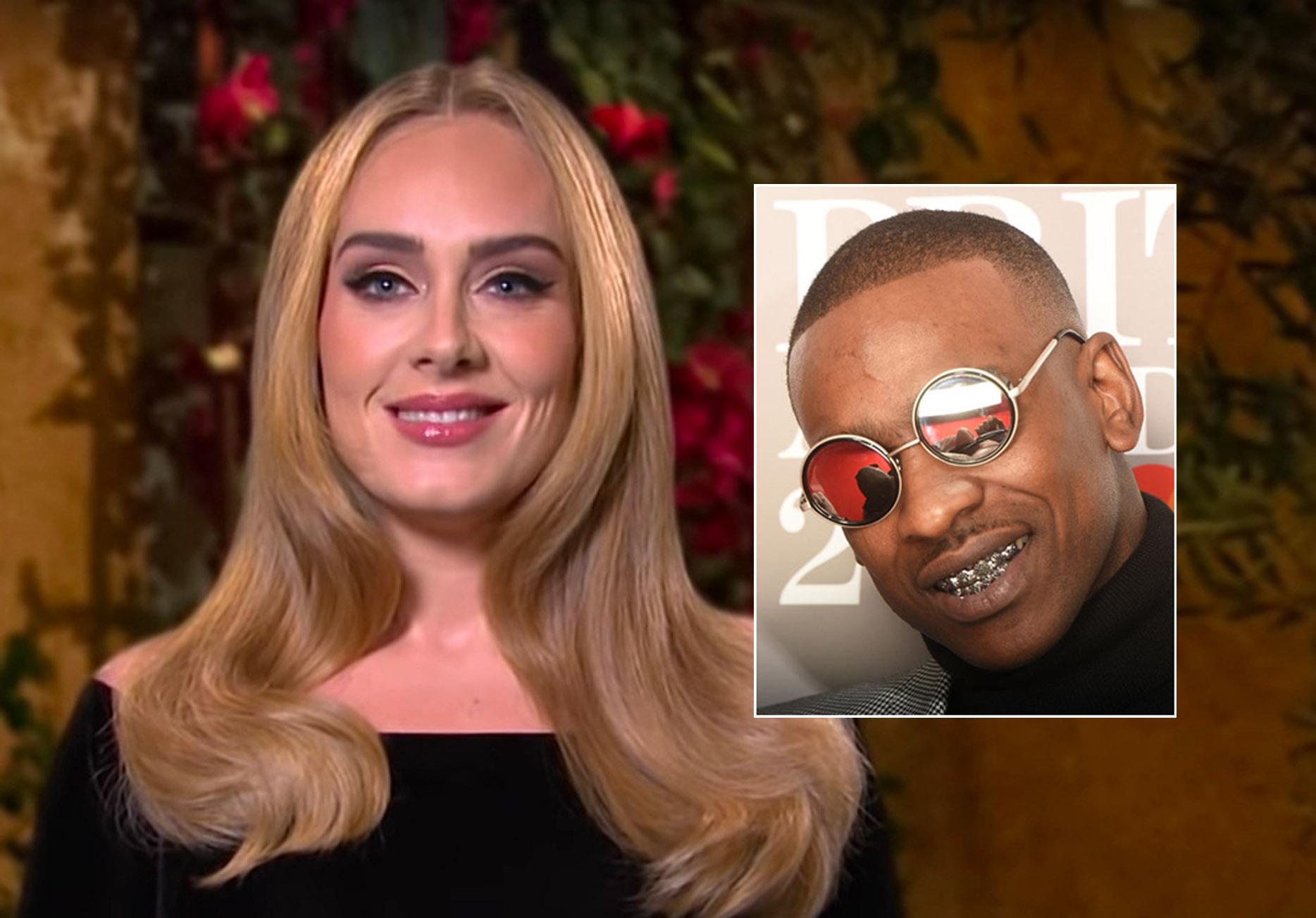 Adele på SNL i oktober 2020, Skepta på The BRIT Awards i 2017 (Dave J Hogan/Getty)