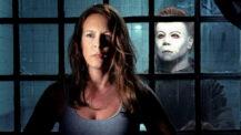 Jamie Lee Curtis alias Laurie Strode og Michael Myers alias The Shape (Miramax)
