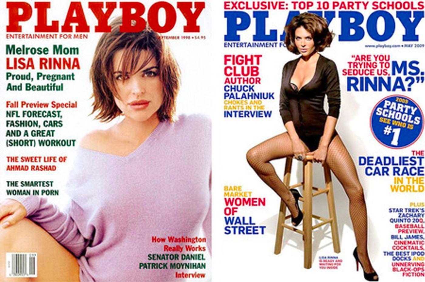 Lisa Rinna (35) og Lisa Rinna (46) som forsidepike (Playboy)